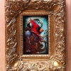 Crimson Watcher- Framed Original